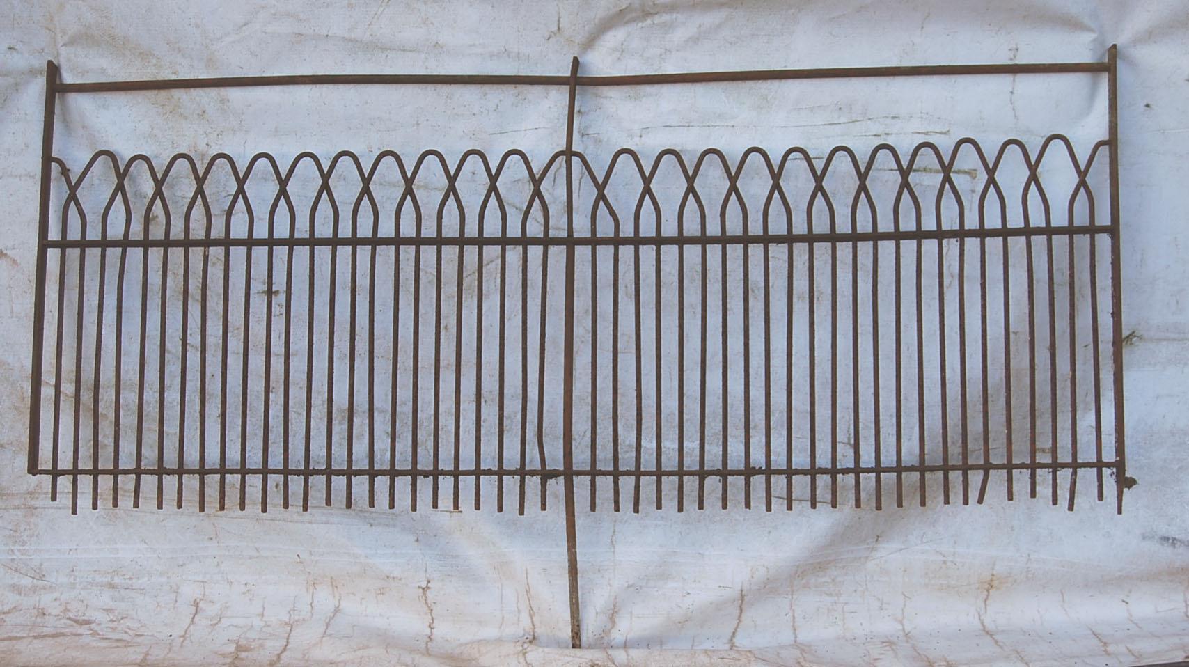 A good run of antique wrought iron estate fencing-72793