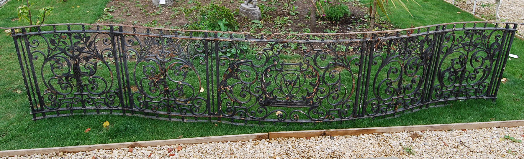 A section of English wrought iron terrace railing-65568