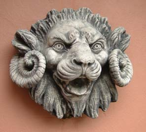 The 'Chimaera' composition stone fountain mask-0