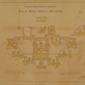 "A large Edwardian plan of ""Warlingham Mental Hospital""-0"