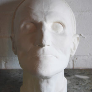 An English cast plaster death-mask of the Versailles head gardener-0