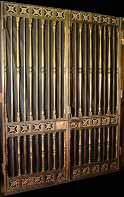 Two pairs of bronze and cast iron entrance gates-0