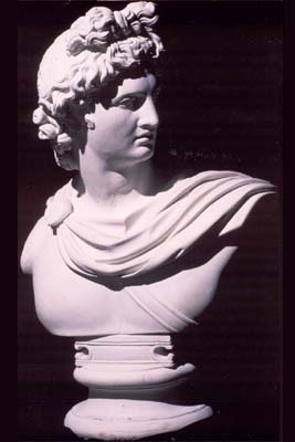 An English composition stone bust of Apollo-0