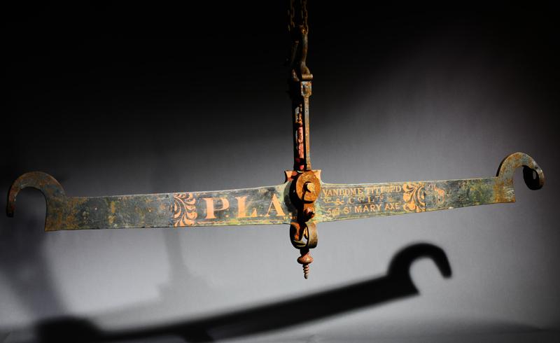 A Victorian cast iron balance by Vandome Titford & Co.-0