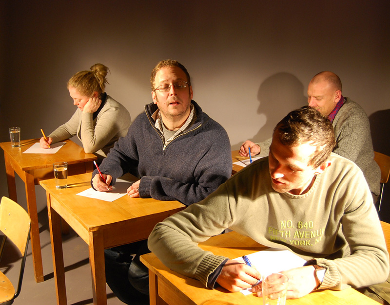 A beechwood examination table-0