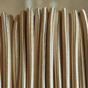 Cream braided electrical cable-0