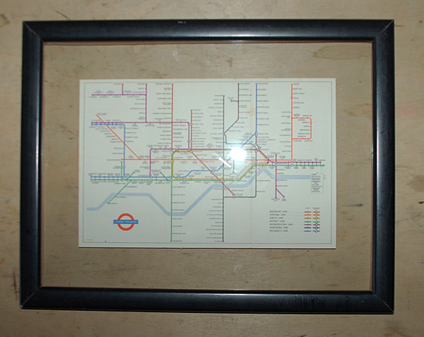 London Underground Map from 1951-0