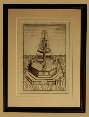 A set of eight Dutch prints of fantastical fountains-64754