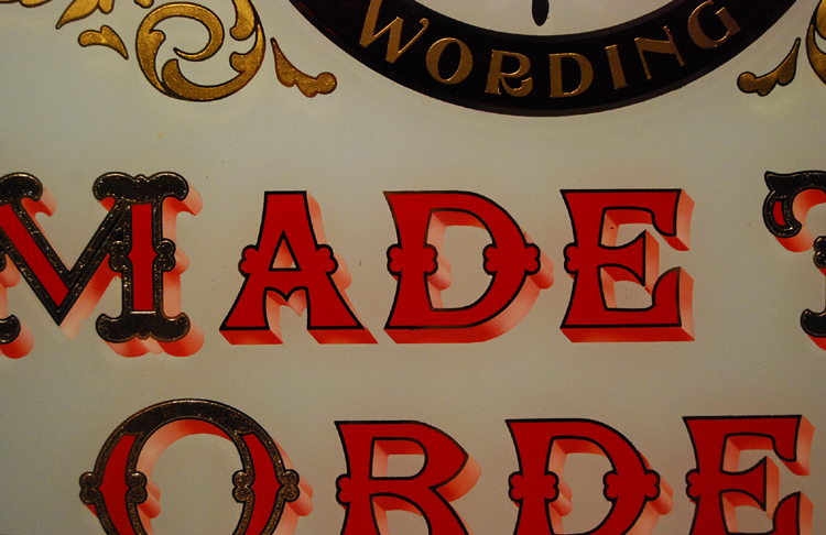Bespoke hand-painted and gilded glass signs and mirrors-71538