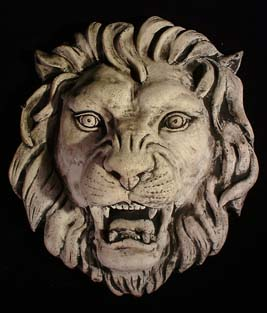 A composition stone lion fountain mask-0