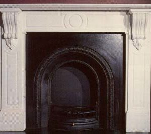 """The Barnes"" - A mid Victorian style white marble chimneypiece-0"