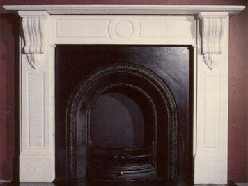 """""""The Barnes"""" - A mid Victorian style white marble chimneypiece-0"""