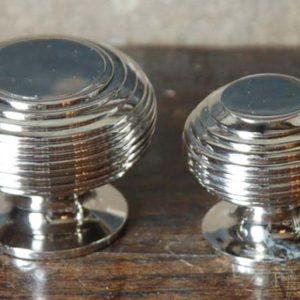 A nickel-plated brass cupboard knob-0