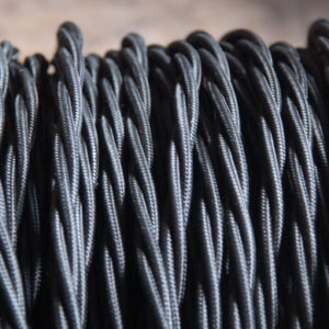 Black triple twisted electrical cable-0