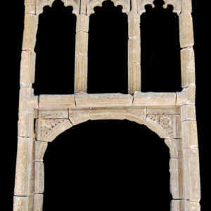 A Henry IV carved stone chimneypiece-0