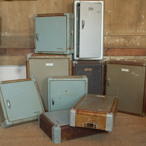 A selection of industrial steel cabinets-70661