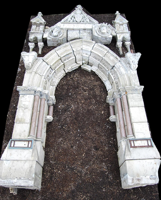 A magnificent Victorian Gothic Portlandstone entranceway-0