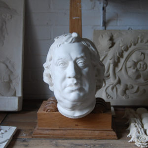 A cast plaster head of Dr Johnson-0