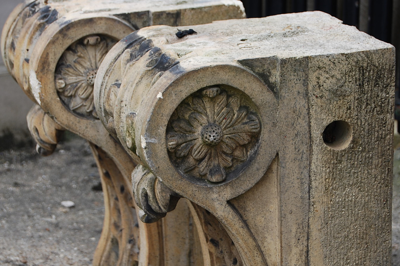 One of a large quantity of mid Victorian stoneware corbels by Joseph Cliff and Sons, Wortley, Leeds (some stamped)-64622