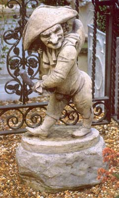 An English composition stone figure of 'Mr. Punch'-0