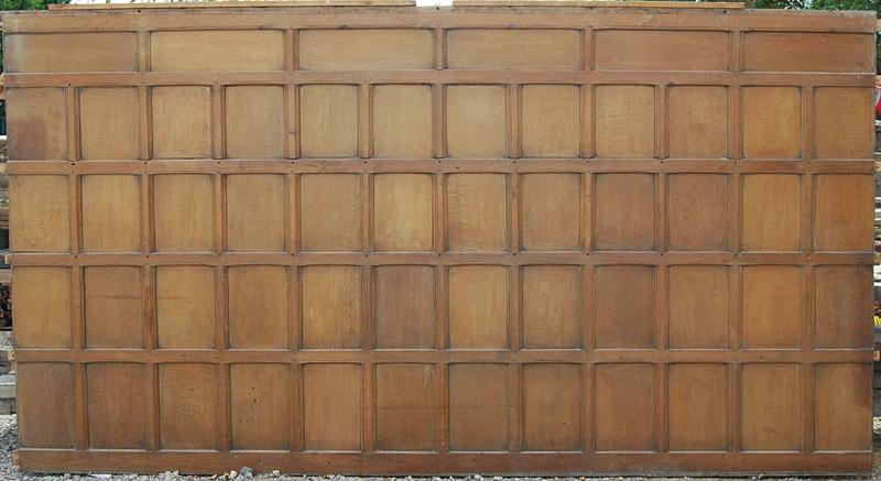 An English oak panelled room-0