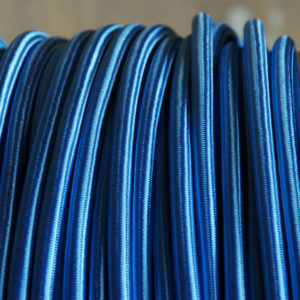 Sky blue braided electrical cable-0