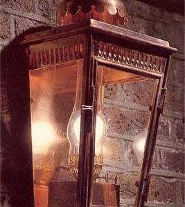 An English copper stable lantern-0