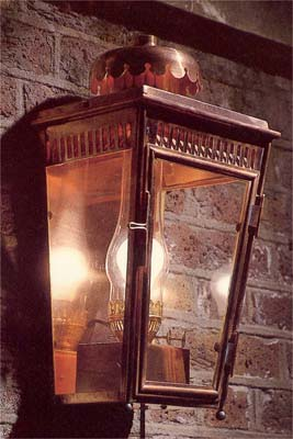 An English copper stable lantern-0
