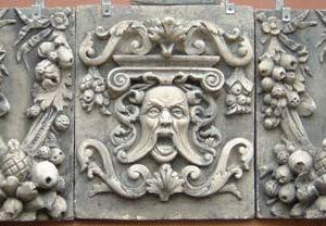 A tripartite composition stone panel-0
