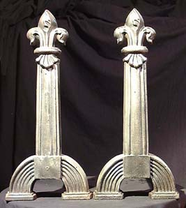 A pair of cast iron andirons-0