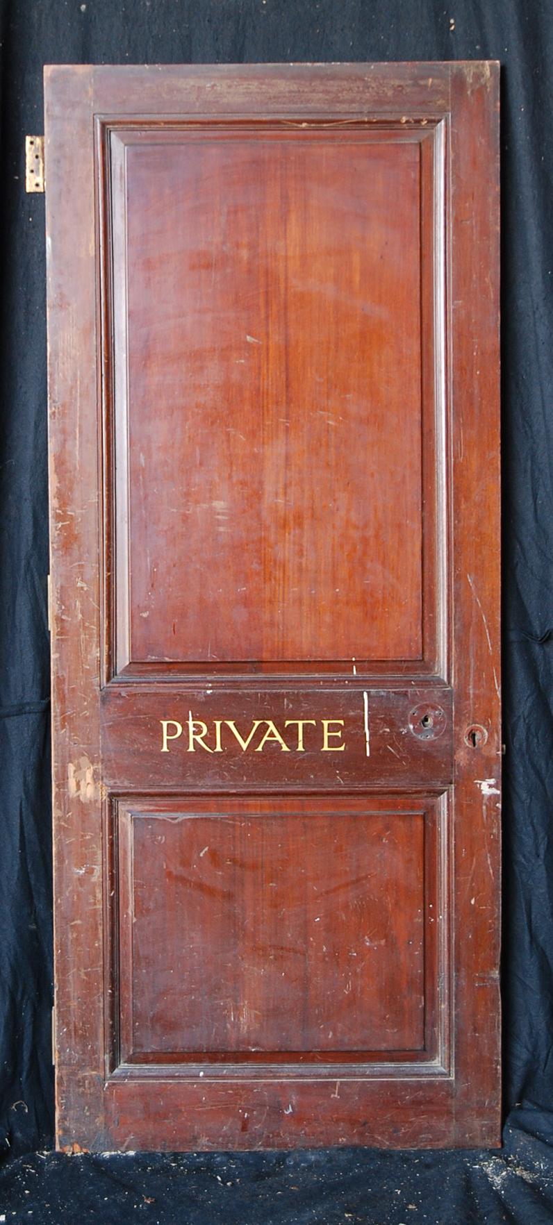 An English mahogany veneered two panel door-74807