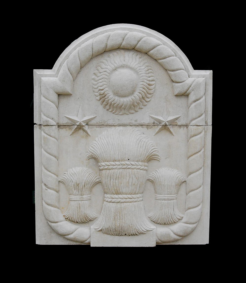 An English Portland stone plaque, one of a series-0