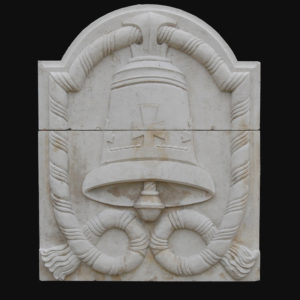 An English Portland stone plaque-0
