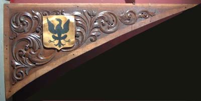 One of a series of English carved oak spandrels-0