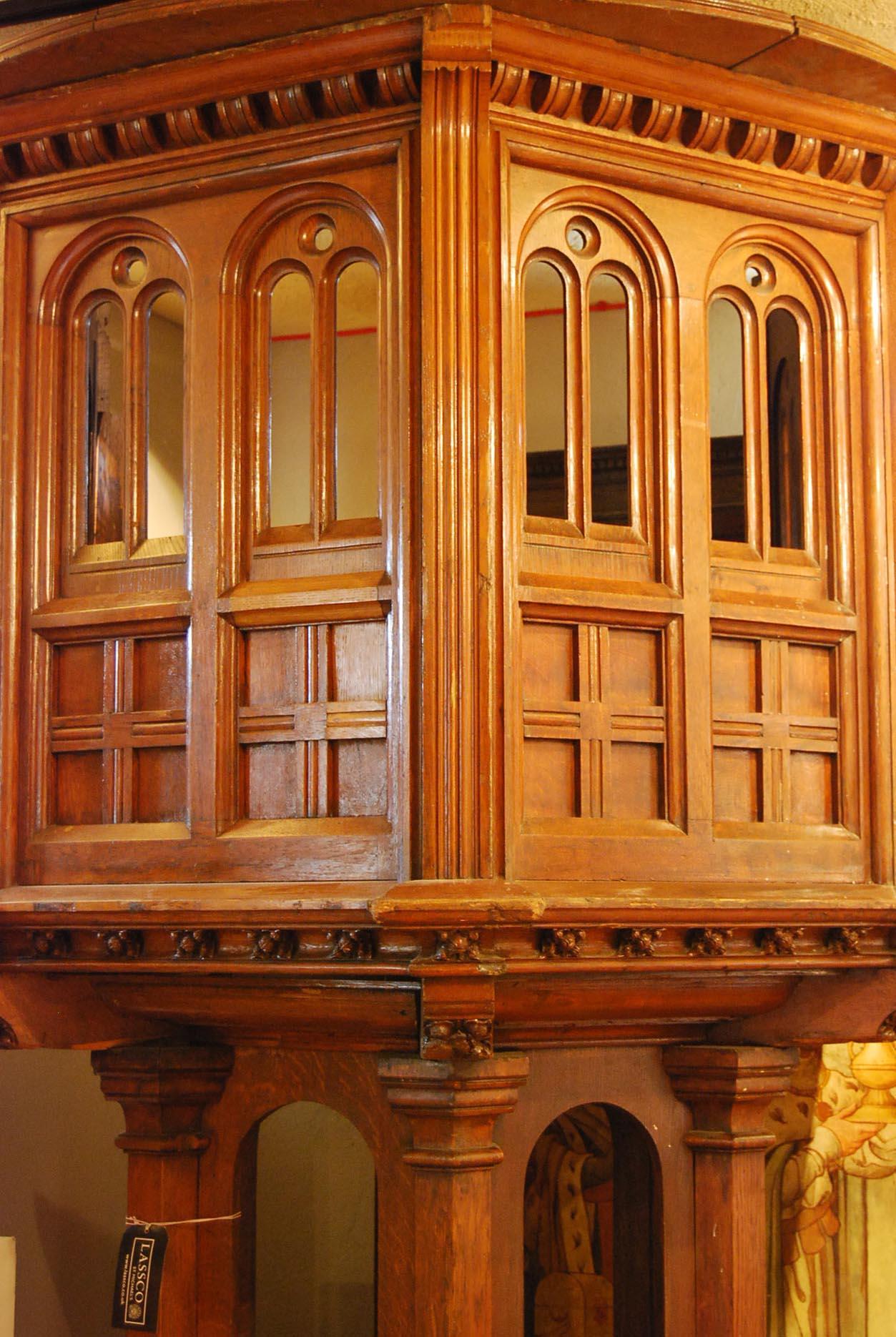 A Victorian carved oak pulpit-67168