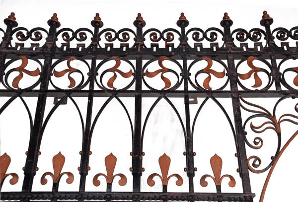 A wrought and cast iron chancel screen-73472