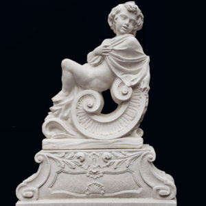 An Italian reconstituted marble putto personifying 'Winter'-0