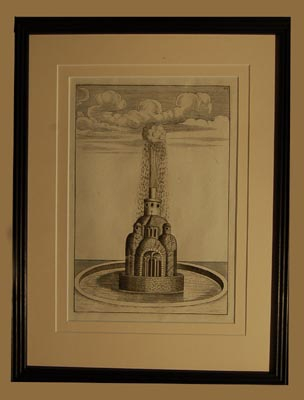 A set of eight Dutch prints of fantastical fountains-64755
