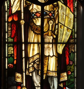 A Stained and Painted Glass Window Depicting St. Michael-0