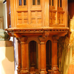 A Victorian carved oak pulpit-0