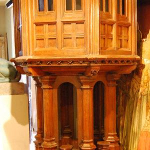 A Victorian carved oak pulpit-0