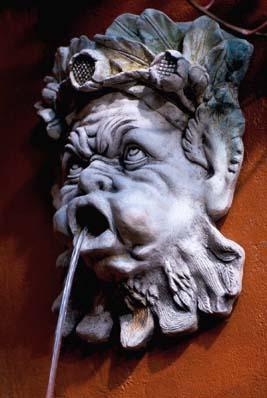 A composition stone grotesque fountain mask-0