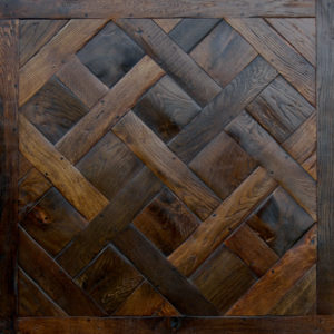 Antique French oak parquet de Versailles