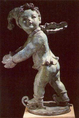 """An English bronze figure of a putto personifying """"Winter""""-0"""