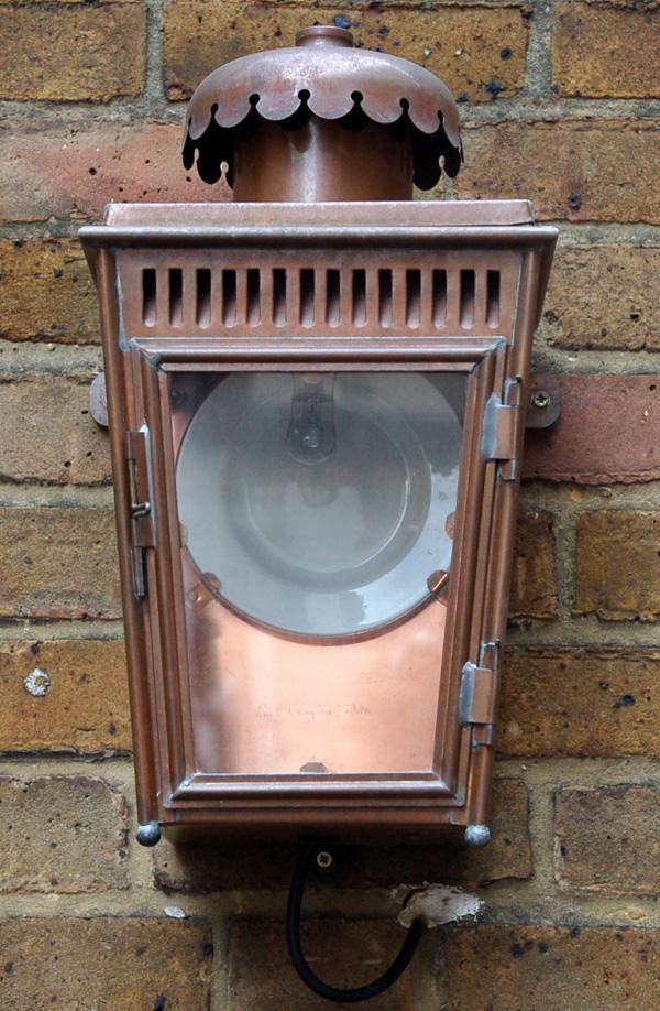An English copper stable lantern-64176