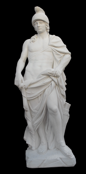 An Italian reconstituted marble figure of Apollo-0