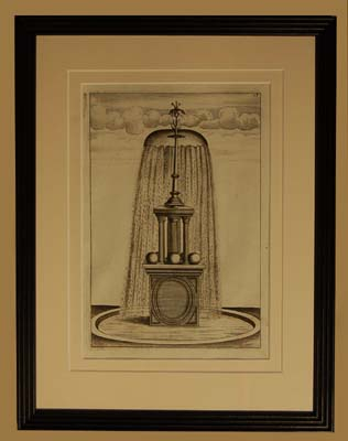 A set of eight Dutch prints of fantastical fountains-0