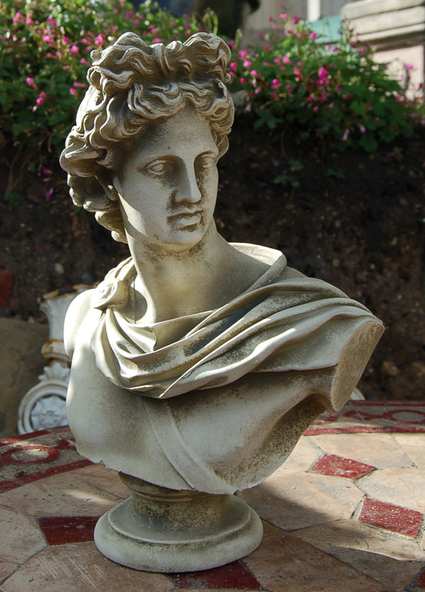 A small English composition stone bust of-0