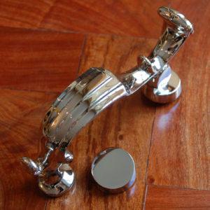 A nickel-plated brass door-knocker-0