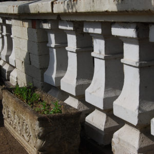 A run of late Victorian stone balustrading-0